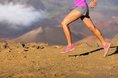 Running sport fitness woman - closeup — Stock Photo