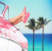 Summer vacation travel freedom concept — Stock Photo