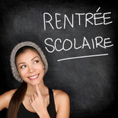 Rentree Scolaire - French student back to school — Stock Photo