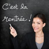 Cest la Rentree Scolaire - French back to school — Stock Photo