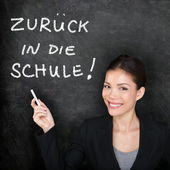 Πίσω στο σχολείο πεθαίνουν - γερμανική πίσω στο σχολείο — Φωτογραφία Αρχείου