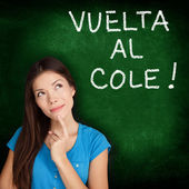 Vuelta al cole - Spanish student back to school — Stock Photo