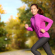 Young Asian woman running female jogger happy — Stock Photo