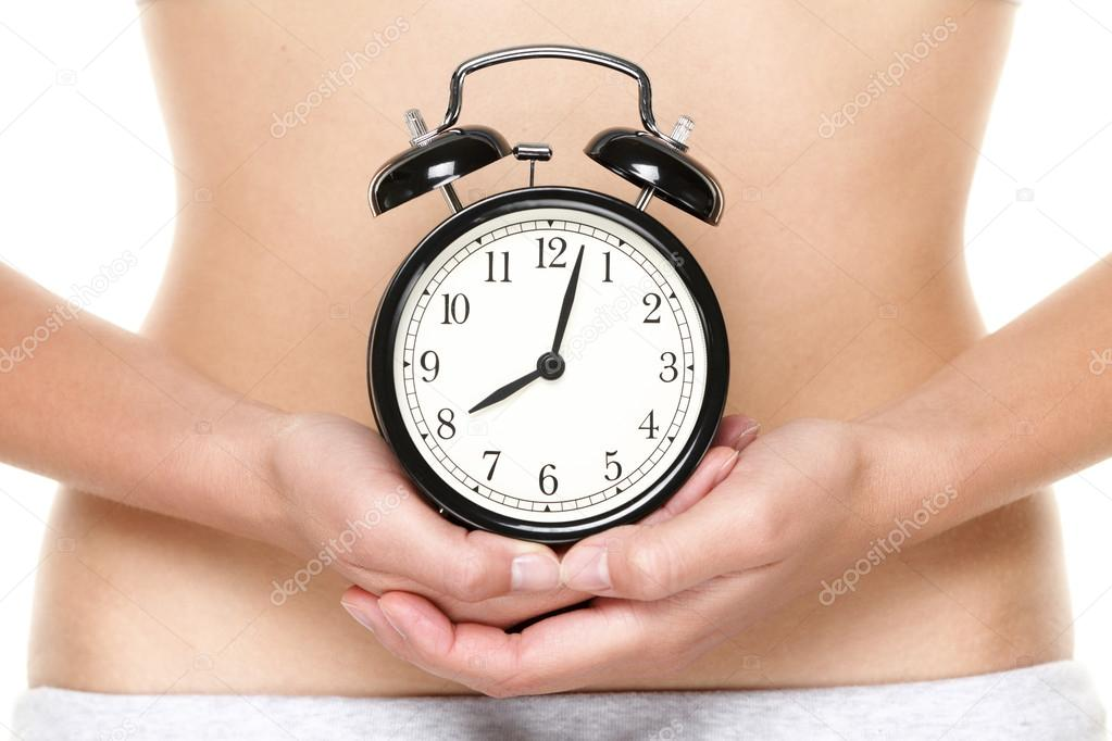Biological Clock Ticking Biological Clock Ticking Woman Holding Clock in Front of Stomach