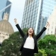 Business achievements success businesswoman — Stock Photo