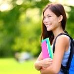 University, college student girl — Stock Photo