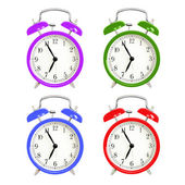 Alarm clocks isolated on white background — Stock Photo
