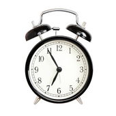 Alarm clocks - black bell alarm clock isolated — Stock Photo
