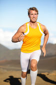 Sport fitness running man sprinting outside — Stock Photo
