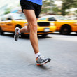 Running in New York City - man city runner — Stock Photo