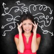 Confused woman - people feeling confusion — Stock Photo