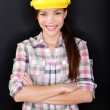 Female construction worker or engineer portrait — Stock Photo
