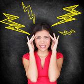 Headache - migraine and stress — Stock Photo