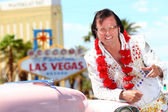 Las Vegas Elvis impersonator on the strip — Stock Photo