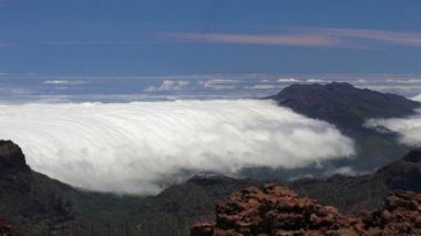 La Palma landscape with clouds, Canary Islands. — Stockvideo
