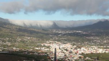 La Palma landscape with clouds, Canary Islands. — ストックビデオ