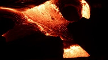 Flowing lava close up, Lava - Kilauea volcano, Hawaii — Stock Video