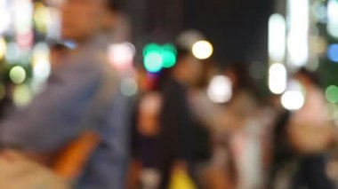 Pedestrians - people walking in city night — Stock Video