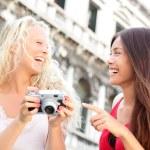 Women friends - girlfriends laughing having fun — Stock Photo