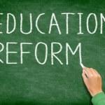 Education reform - school reform blackboard — Stock Photo