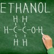 Ethanol alcohol chemical molecule structure — Stock Photo