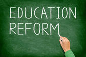 Education reform - school reform blackboard — Zdjęcie stockowe