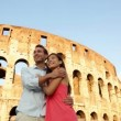 Couple on travel vacation, Coliseum, Rome — Stock Video #32410367