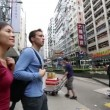 Hong Kong  Causeway Bay Tourists walking — Stock Video