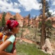 Hiking people - couple hikers in Bryce Canyon — Stock Video #33041739