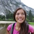 Hiking woman on hike in Yosemite national park — Stock Video #33041781