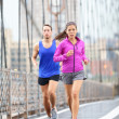 Running couple — Stock Photo