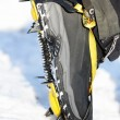 Stock Photo: Crampons closeup
