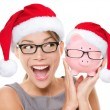 Christmas glasses eyewear sale concept — Stock fotografie