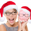 Christmas glasses eyewear sale concept — Foto de Stock