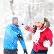 Snowball fight — Stock Photo