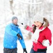 Snowball fight — Stock Photo #34123179