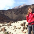Female hiker on Tenerife. — Stock Photo
