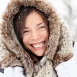 Winter woman happy outside — Stock Photo