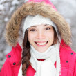 Portrait of winter woman — Stockfoto