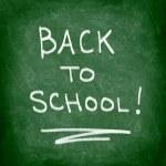Back to school chalkboard — Stock Photo