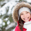 Winter woman portrait outdoors — Stok fotoğraf