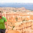 Hiker - man hiking in Bryce Canyon — Stock Photo #34124091