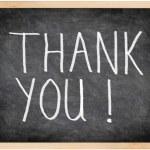 Thank you blackboard — Stock Photo