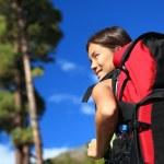 Woman hiking looking at view — Stock Photo