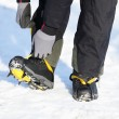 Crampons closeup — Stockfoto