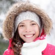 Winter woman portrait closeup — Stock Photo