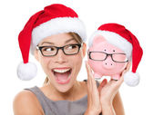 Christmas glasses eyewear sale concept — Stock Photo