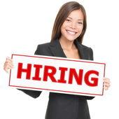 Job woman hiring — Stock Photo