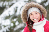 Winter woman portrait outdoors — Stock Photo
