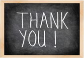 Thank you blackboard — Stok fotoğraf